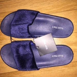 Blue Velvet Ellen Tracy Sandals Size 9/10 NWT
